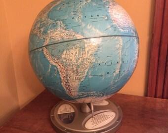 Vintage Rand McNally World Portrait Globe/Vintage Planet Globe