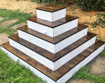 Tiered Rustic Cupcake Stand