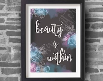 Beauty Is Within - A4 Art Print