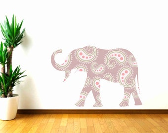 Kids Decor, Elephant Wall Decal, Animal Wall Sticker,Nursery Wall Decals, Zoo animal decal, Girls Bedroom Decor, Safari Animal, Baby Gift