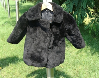 Child's fur coat Kid's fur coat Beaver lamb Winter kid's fur coat Warm child's fur coat Fur coat for girls Fur coat for boys Vintage USSR