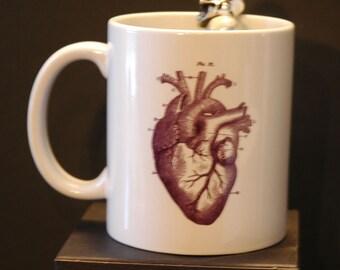 Anatomical Heart Printed Ceramic Mug 11oz or 15oz