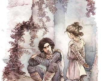 Ben and little Rey - Facsimile print
