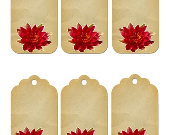Flower Gift Tag 1C-clipart-Background-Jewelry-Clipart-Art Clip-Gift Tag-Holiday-Digital Clipart-Website-Banner-Notebook-Scrapbook.