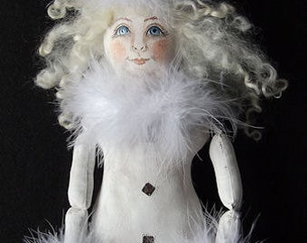 IceAnna Winter Snow Elf Art Doll Instant Download PDF Epattern Sewing and Painting Pattern by Edna Bridges