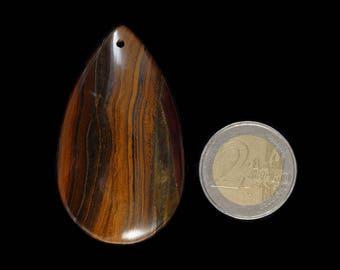 Natural, unique iron tiger's eye jasper pendant stone (EA1216)