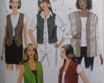 Women's Easy Lined Vest Pattern - Butterick 5359 - Sizes L (16-18), XL (20-22), Bust 38 - 44
