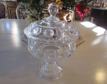GLASS COMPOTE with LID
