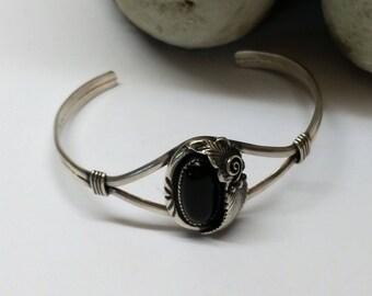 Bracelet Silver 925 onyx handmade unique nostalgic SA208