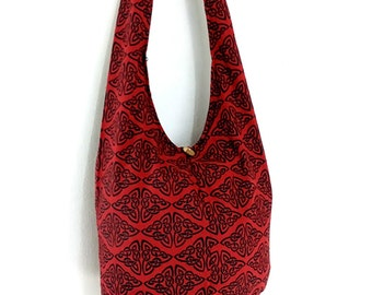 Women bag Handbags Cotton bag Hippie bag Hobo bag Boho bag Shoulder bag Sling bag Messenger bag Tote bag Crossbody bag Purse Red