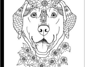 Labrador coloring Etsy