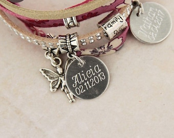 """Personalized with names """"Lil ' Pretty"""" Rose bracelet"""