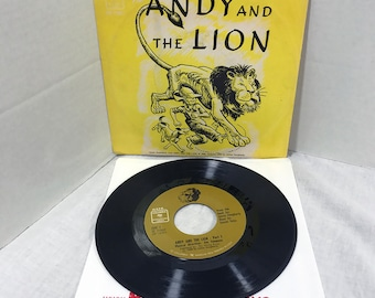 "HTF Andy And The Lion vinyl record 7"" 1966 Jim Timmens, Daniel Ocko, James Daughterty VG/VG+"