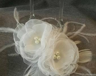 JOSEPHINE Organza Flower Bridal Head Piece Hair Accessory