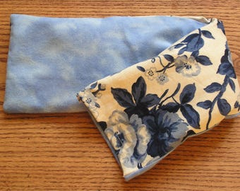 Hot and Cold Therapy Pillow with Organic Lavender - Soothing Blue