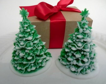 Christmas tree soap gift set - Christmas for her - stocking for women - stocking stuffer for kids - Christmas tree soap - stocking for teen