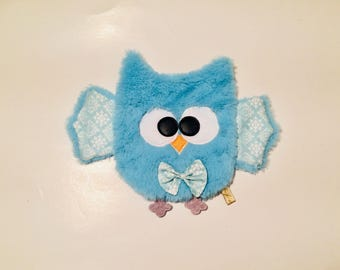 Olly opaline minky ultra long ultra soft / owl / owls / OWL / owls. French manufacturing.