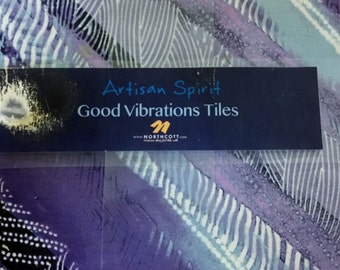 Northcott Artisan Spirit Good Vibrations 10 Inch tiles TVIBRA42-10