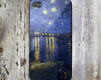 iPhone X, iPhone 8, All iPhone & Samsung Starry Night Over the Rhone Vincent VanGogh Van Gogh Phone Case Famous Art Painting