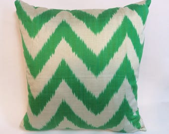 "Handmade ikat pillow cover 20""x20"" Fast Shipping with FEDEX 1-3 days"