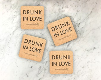 25 Cork Coaster Set, Engraved Coaster, Wedding Favor, Personalized Coasters, Custom Engraved Wedding Coasters, Party decor --22106-CST2-029