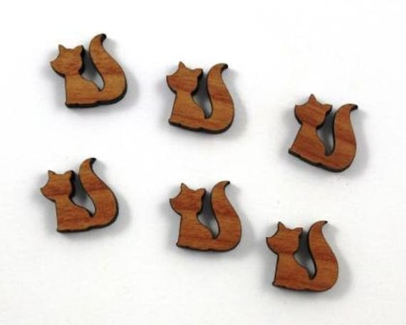 Laser Cut Supplies-8 Pieces.Little Fox Charms - Laser Cut Wood -Earring Supplies- Little Laser Lab Sustainable Wood Products