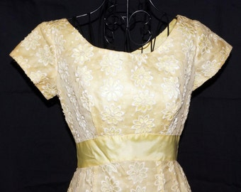 1960s Evening Prom Dress Sz 2 Hippie Vintage Retro