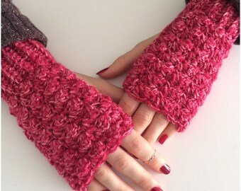 Crochet Wrist Warmers ,Fingerless Gloves, Crochet Gloves ,Fingerless Mittens ,Mothers Day Gift birthday gift ,handmade gift.