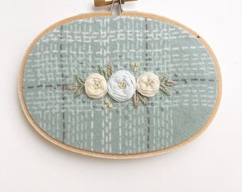 Hand Embroidered Hoop Art, Wall Art, Modern Embroidery
