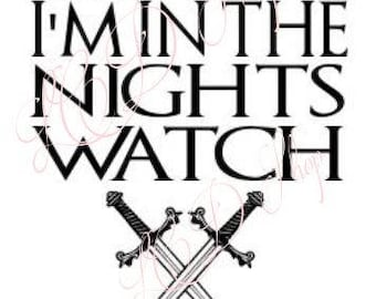 Game of Thrones Nights watch svg