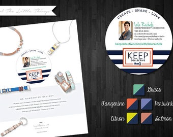 "NEW | Customized 3"" Round Catalog Labels for Keep Collective 