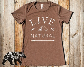 Live Natural Tee ~ Available In 3 Styles and Vintage Colors