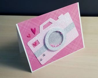 "4""x6"" Valentine's day Shaker Card - You captured my heart"