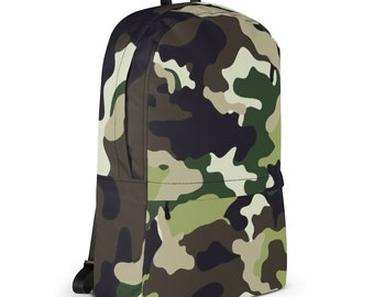 Green Camo Travel Backpack