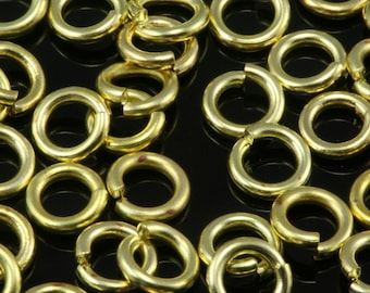 Open jump ring 5 mm 18 gauge( 1 mm )  raw brass jumpring 518JR-27 1156R