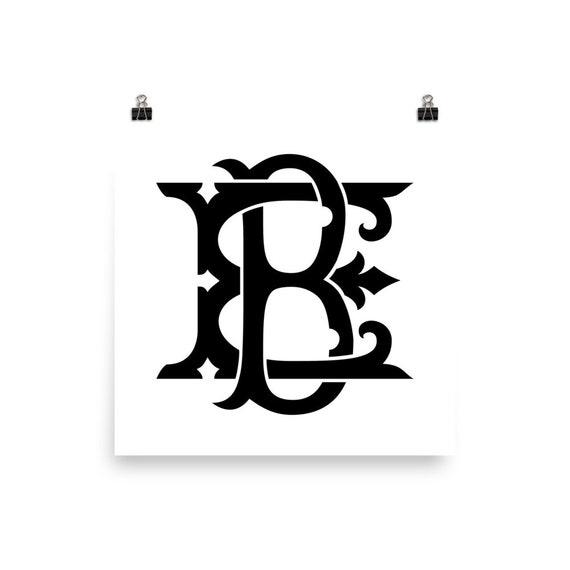 I AM Custom Monogram - BE | Art Print