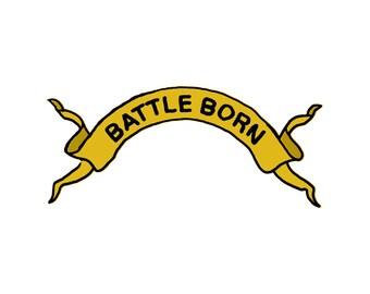 Battle Born Ribbon - Temporary Tattoo