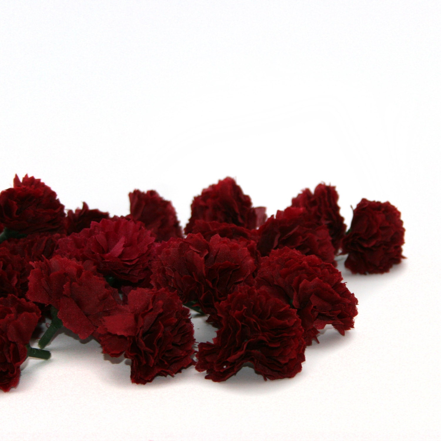 100 Burgundy or Dark Red Baby Carnations - Artificial Flowers from ...