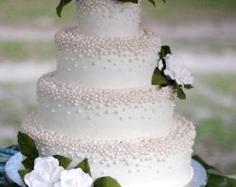 Gardenia wedding cake flowers