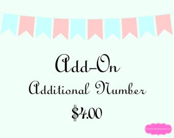 Add-On Additional Number