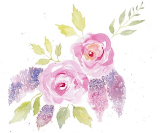 Mothers Day, Roses Painting, Original Watercolor, Floral Art, Wall Art
