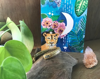 My Moon Zodiac: Leo Greeting Card