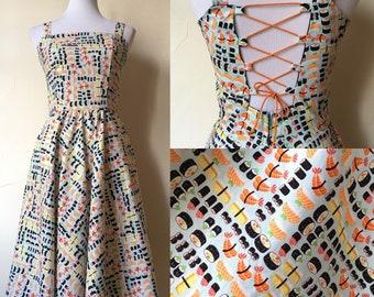 I Like It Raw Retro Sushi Dress xsmall and medium