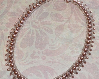 Elegant simplicity pearl and seed bead necklace called Pretty In Pearls