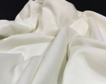 Ivory Jersey, Jersey Fabric, Stretch Material, Bridal Fabric, Wedding Dress Stretch Fabric, Stretchy Fabric, Remnant Fabric, Ivory Fabric
