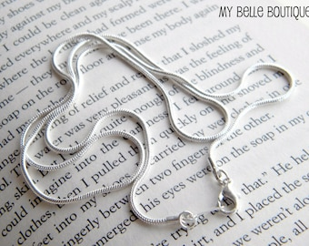 """22"""" CHAIN UPGRADE -- Silver Plated Snake Chain with Lobster Clasp"""