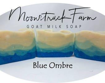 Blue Ombre Goat Milk Soap
