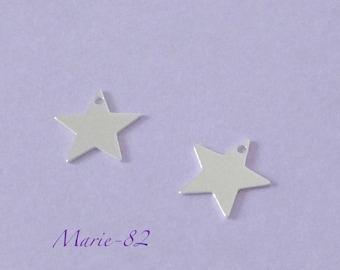 1 Star / Mini charm 10 mm - sterling silver
