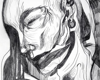 Original illustration - Humaine