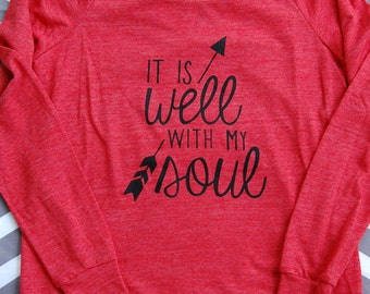It Is Well With My Soul Long-Sleeve LADIES' Eco Jersey Pullover